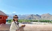 Hoa hậu Du lịch Thế giới Huỳnh Vy tập yoga giữa đất trời Tây Tạng