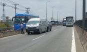 TP HCM: Liên tiếp xảy ra va chạm, quốc lộ 1 ùn ứ nghiêm trọng