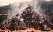 Bão lửa đi qua và những gì còn lại trên núi Hồng Lĩnh nhìn từ flycam