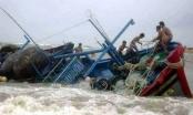 Chìm tàu cá, 1 người chết 5 người mất tích