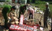 Lào Cai: Tiêu hủy bánh kẹo, hoa quả không rõ nguồn gốc xuất xứ