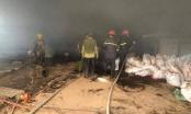 Cháy lớn tại xưởng chế biến than sạch ở khu công nghiệp