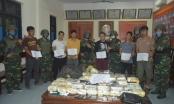 2 đối tượng người Lào trang bị súng, vận chuyển 30 bánh heroin, 45 kg ma túy đá