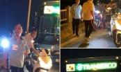 Đình chỉ lái, phụ xe buýt cầm tuýp sắt đánh người dã man trên cầu Vĩnh Tuy