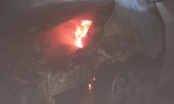 Kia morning bốc cháy dưới tầng hầm, cư dân hoảng hốt tháo chạy khỏi chung cư