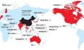 Infographics: Số quốc gia, vùng lãnh thổ có người nhiễm virus Corona