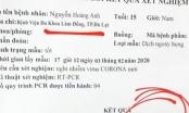 Lâm Đồng: Một học sinh cấp 3 làm giả phiếu xét nghiệm dương tính với Virus Corona