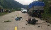 Xe máy tông xe tải trên đèo Lò Xo, 2 du khách người Đức tử vong
