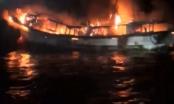 Hai lao động người Hà Tĩnh mất tích trong vụ cháy tàu kinh hoàng ở Hàn Quốc