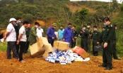 Lào Cai: Tiêu hủy số lượng lớn khẩu trang và pháo hoa