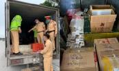 Quảng Ninh: CSGT kiểm tra, thu giữ hàng nghìn bao thuốc không rõ nguồn gốc