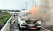 Clip: Tài xế ngậm ngùi nhìn xế hộp của mình bốc cháy nghi ngút trên cao tốc