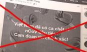 """Tung tin thất thiệt """"Việt nam có ca tử vong vì Covid-19"""" chỉ vì muốn được chú ý"""