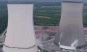 """Clip: Hai nhà máy điện hạt nhân khổng lồ tại Đức """"biến mất"""" trong tích tắc"""