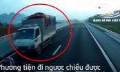 Clip: Xe tải ung dung đi ngược chiều trên cao tốc Bắc Giang - Lạng Sơn gây bức xúc