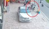 Video: Pha lì lợm của nam thanh niên quật ngã hai tên cướp đi xe máy