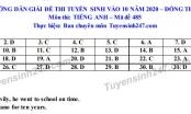 Đáp án đề thi ngày 22/7 môn Anh  vào lớp 10  tỉnh Đồng Tháp 2020