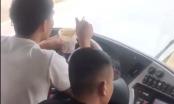 Xử phạt tài xế xe khách vừa ăn mỳ vừa lái xe trên quốc lộ