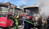 Thanh Hóa: Cháy lớn hàng loạt xe khách tại thị xã Nghi Sơn