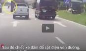 Clip: Kinh hoàng cảnh xe Limousine húc trực diện người đàn ông sang đường kiểu thách thức tử thần