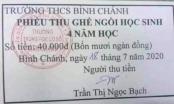 Thu tiền ghế ngồi của học sinh, trường THCS Bình Chánh ở TP HCM phải trả lại