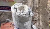 Cột điện bị gãy trong bão số 5 ở Đà Nẵng có các sợi thép chịu lực