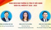 Infographics: Danh sách Ban Thường vụ Tỉnh ủy Bắc Giang khóa XIX, nhiệm kỳ 2020 - 2025