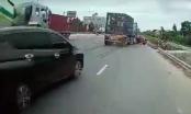 Quảng Ninh: Nam tài xế gây họa vì vượt ẩu, tạt đầu xe đầu kéo