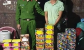 Gia Lai: Bắt quả tang đối tượng mua gần 1 tạ pháo lậu