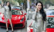 Hương Baby lái siêu xe 17 tỷ đồng đi event