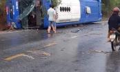 Kon Tum: Xe khách trên quốc lộ 14 bị lật, nhiều người bị thương
