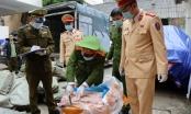 Thu giữ 3,3 tấn nầm lợn xuất hiện nấm mốc trên tuyến Lạng Sơn - Bắc Giang