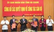 Hà Giang công bố các quyết định về công tác cán bộ