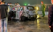 Xe ô tô 5 chỗ bất ngờ bốc cháy ở đường bao biển Quảng Ninh