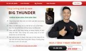Website quảng cáo sản phẩm Love thunder, Rain thunder, Big thunder lừa dối người tiêu dùng