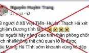 Triệu tập chủ tài khoản đăng tin sai sự thật về 18 người trong một xã ở Hà Tĩnh dương tính