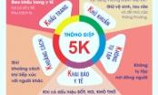 Bộ Y tế khuyến cáo người dân không hoang mang, tuân thủ thực hiện khuyến cáo 5K