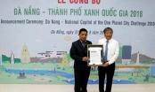 Đà Nẵng nhận danh hiệu Thành phố xanh quốc gia 2018