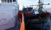 Cứu nạn 6 thuyền viên trên tàu cá trôi dạt hơn 2 ngày trên biển