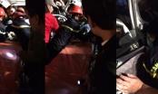 Giải cứu một nạn nhân mắc kẹt trong cabin ôtô bán tải