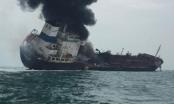 Tàu Việt Nam cháy lớn trên biển Hồng Kông