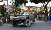 Xe thiết giáp xuất quân bảo vệ Hội nghị Thượng đỉnh Mỹ - Triều Tiên
