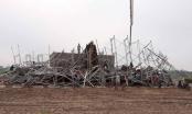 Sập giàn giáo xây dựng cây xăng tại Nam Định, 8 người thương vong