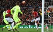 M.U 0-1 Barcelona: Luke Shaw lúng túng đá phản lưới nhà