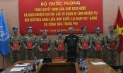 Bộ Quốc phòng trao quyết định của Chủ tịch nước cho 7 sĩ quan đi làm nhiệm vụ gìn giữ hòa bình Liên hợp quốc