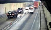 Bất chấp nguy hiểm, nhiều xe ô tô vượt ẩu trong hầm Hải Vân