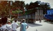 Tài xế xe tải bị điện hút lên không trung