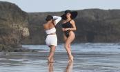 Người mẫu nội y phô đường cong bỏng  mắt trên bãi biển ở Bali