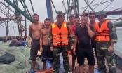 Cứu sống 7 ngư dân gặp nạn trên vùng biển Quảng Ninh.