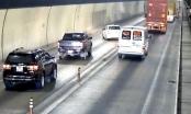 Tai nạn rình rập khi xe vượt ẩu trong hầm Hải Vân